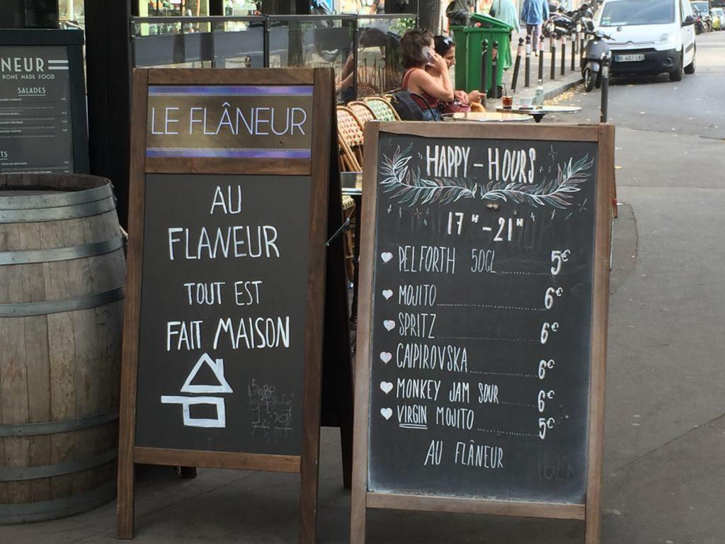 happy hours signs in Paris