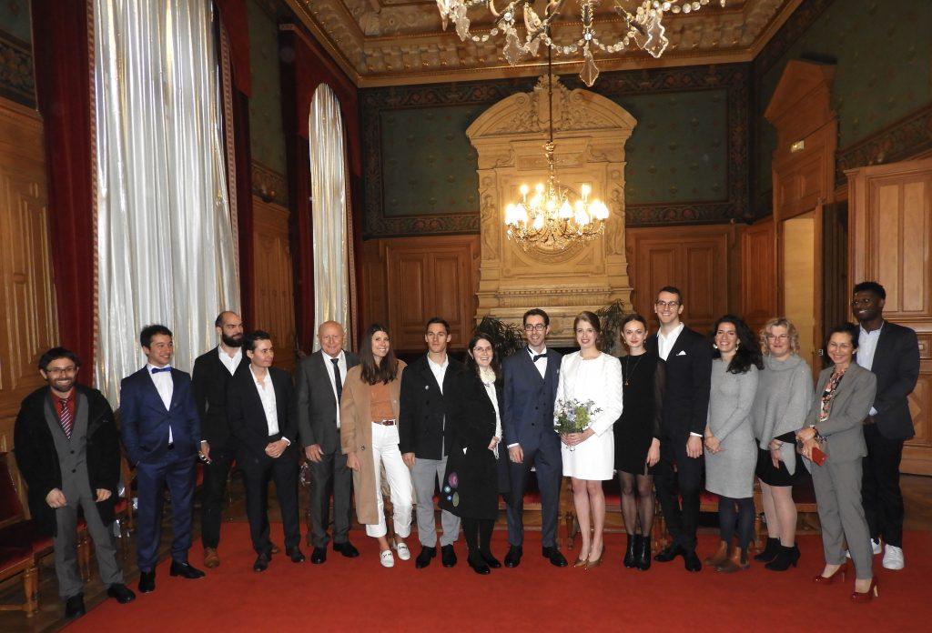 French wedding civil ceremony group photo