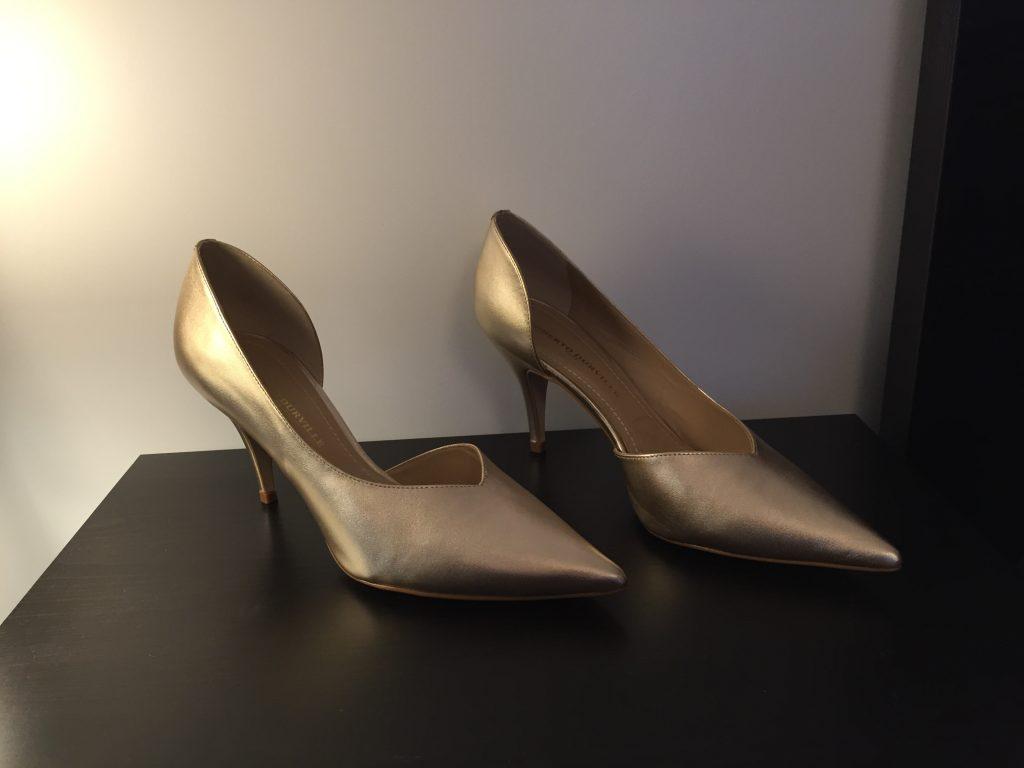 wedding gold high heels