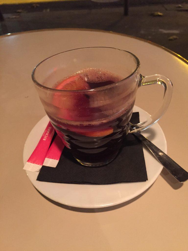 glass of vin chaud