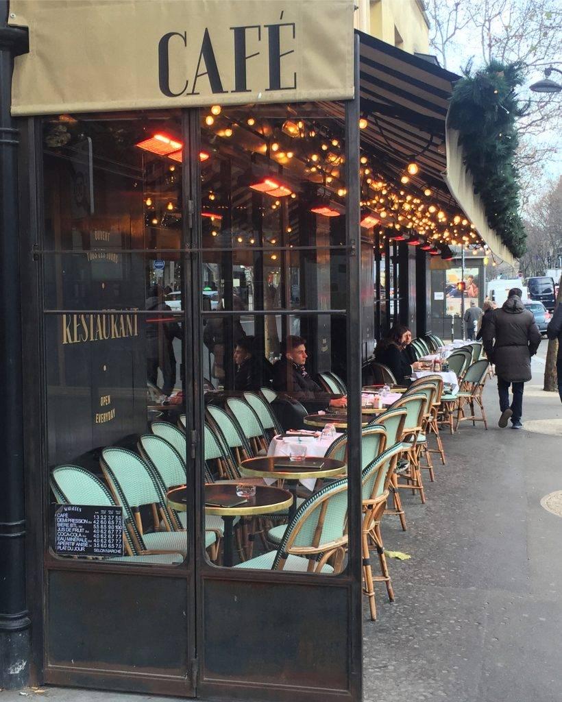 heated seating on Paris terrace