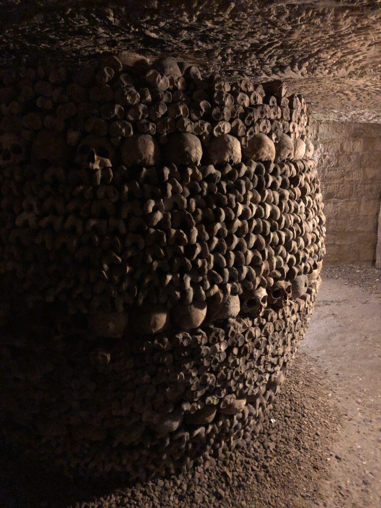 Paris Catacombes pillar of bones