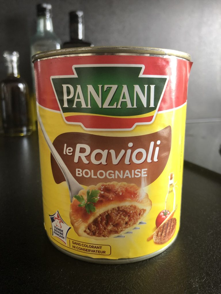 can of raviolis in France