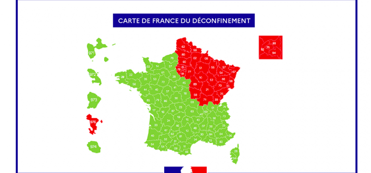 carte de France du Déconfinement