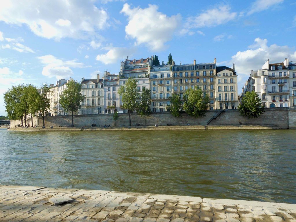 view of the Seine river on a beautiful day