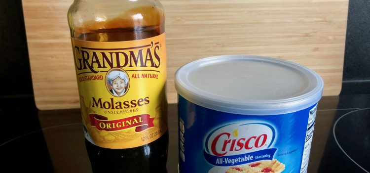 Grandma's molasses and Crisco shortening; things to bring to France