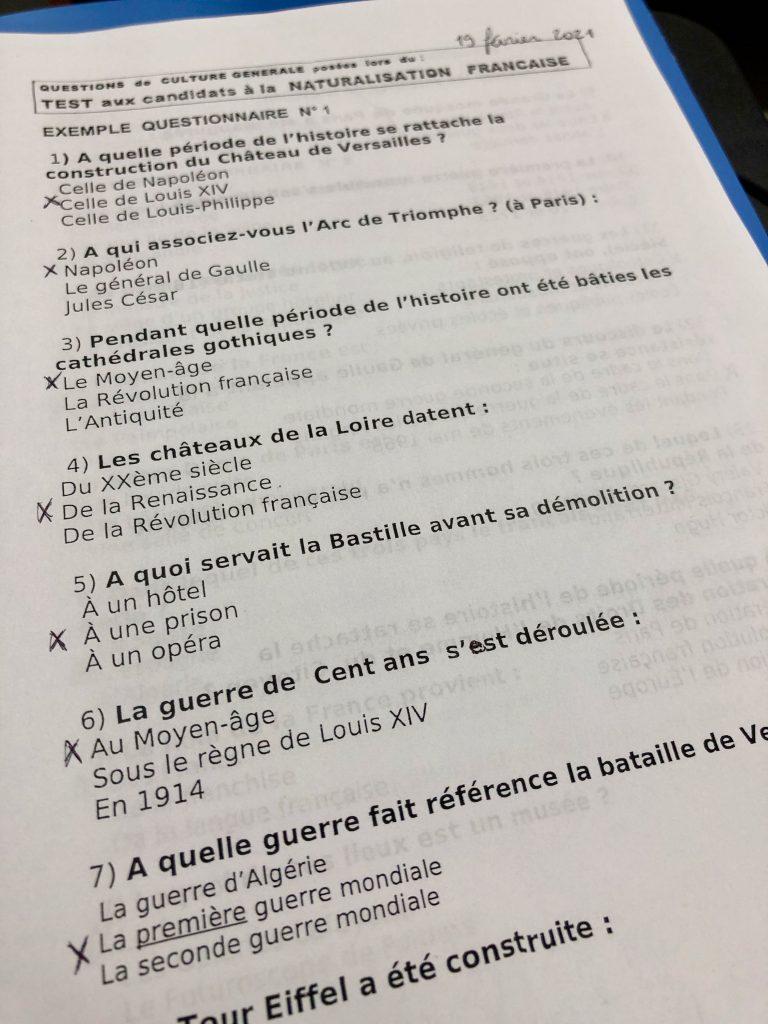 OFII civics class practice test on culture générale
